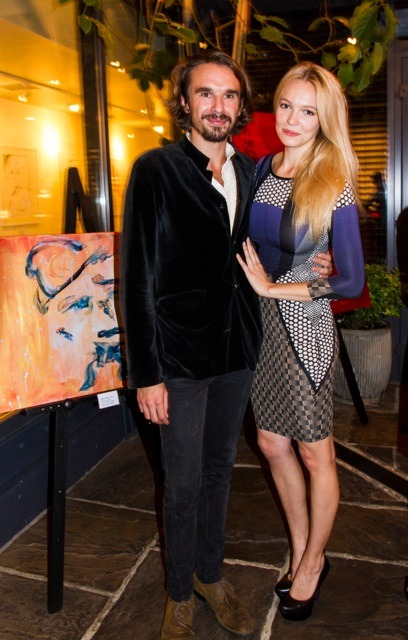 Artist and Actor Edward Akrout with his wife Shelby Welinder