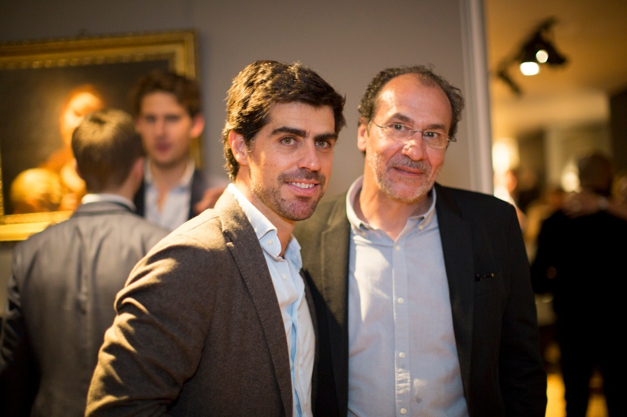 Colnaghi CEO with Spanish contemporary video artist Eugenio Ampudia,