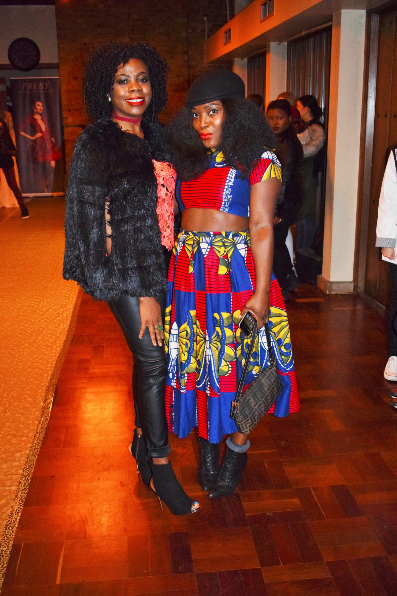 CYNTHIA TABE AND MAMMYPI AT THE LABELS FASHION SHOW/HOW TO WEAR TWO PIECE PRINT