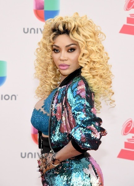 DENCIA- AFRICAN POP STAR & 'QUEEN OF MATAMBA' BLINKS IN SEQUIN AT THE 2016 LATIN GRAMMY