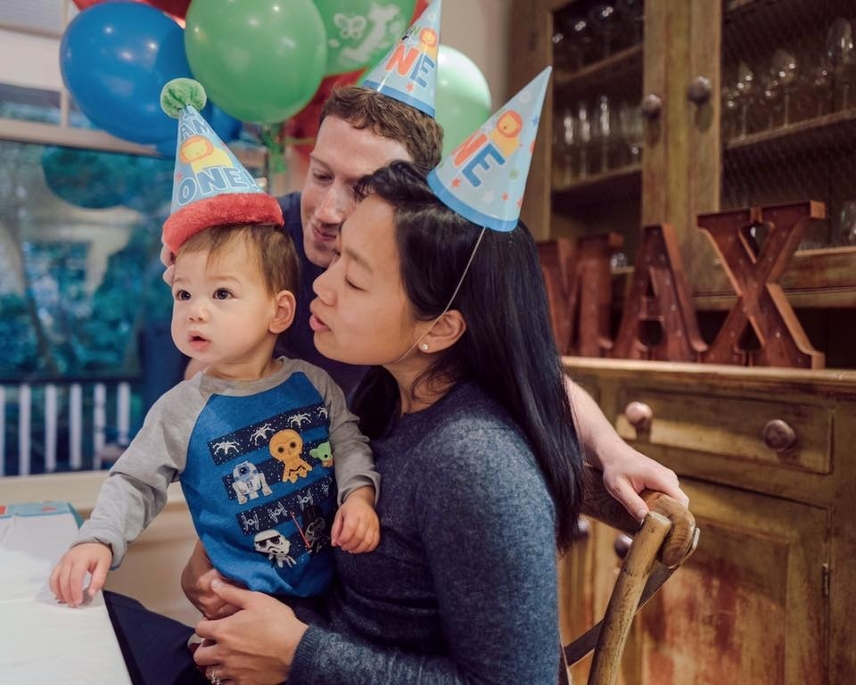 MARK ZUCKERBERGS DAUGHTER MAX TURNS ONE YEAR OLD