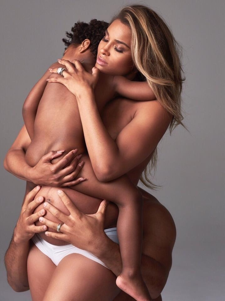CIARA CAPTURES PREGNANCY IN REVEALING SHOOT FOR HARPER'S BAZAAR WITH SON FUTURE AND RUSSELL WILSON