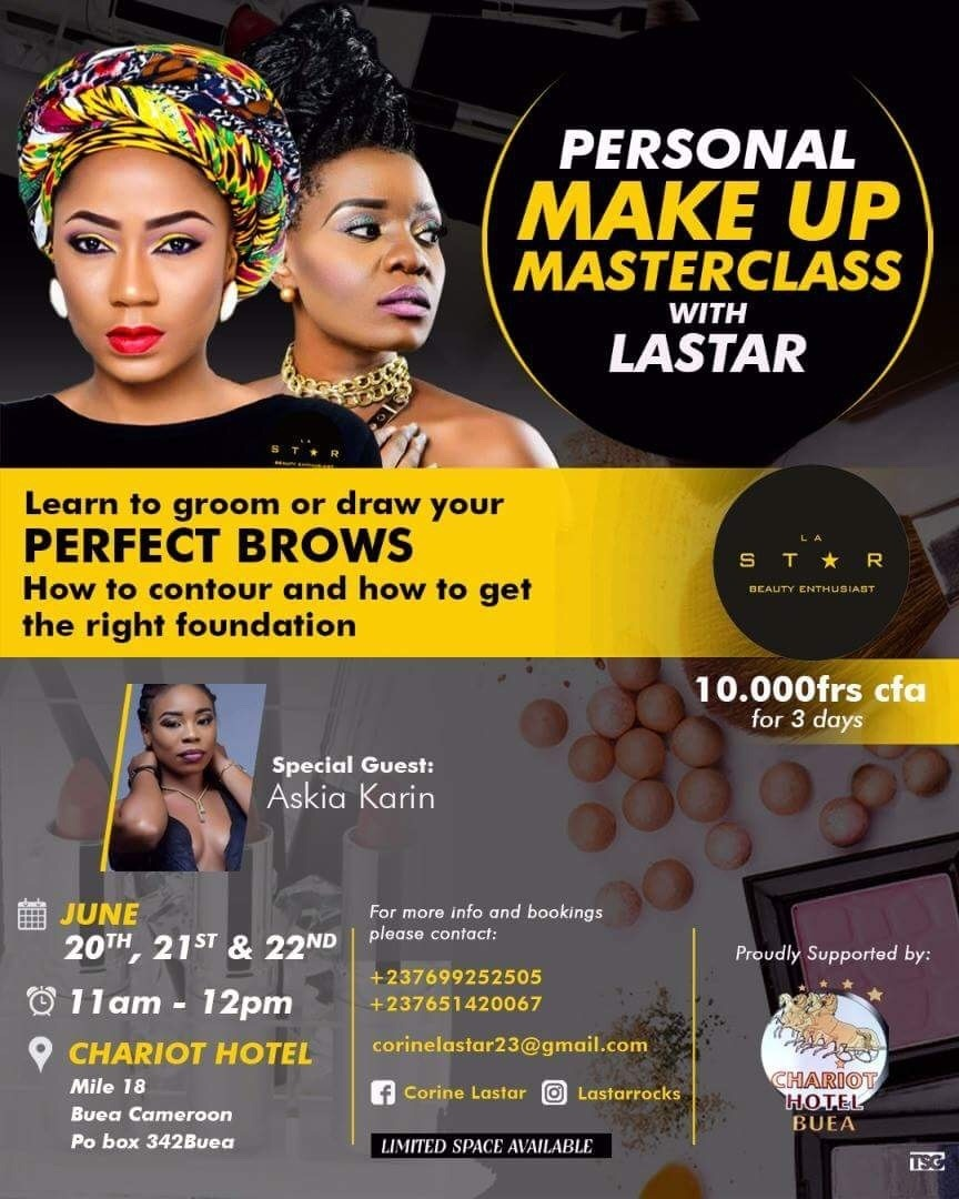 Cameroonian Makeup Artist Lastarrocks To Hold Master Class For Beginners