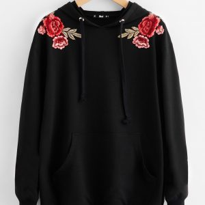 Symmetric Flower Patch Hoodie