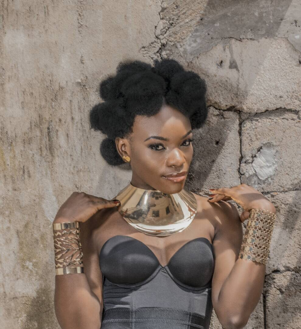 Mimi Akeh Shows Off Her Zulu Style With Hair In China Bumps
