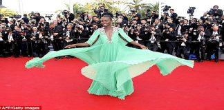 Lupita Nyong'o GRASSHOPPER GREEN Gucci Dress