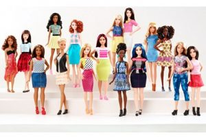 BARBIE NOW COMES IN ALL SHAPES AND SIZES