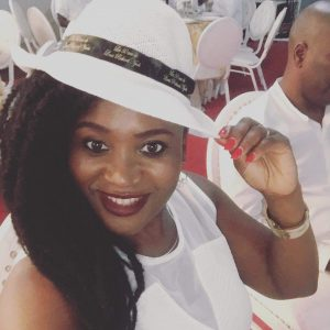 SPIED IN DOUALA: ADELINE SEDE OF FABAFRIQ PICTURED IN ALL WHITE PARTY