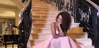 Bonang Matheba Shares Angelic Picture In Pink Ball Gown