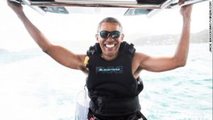 Former US President Barack Obama Having A Time Of His Life At Moskito Island