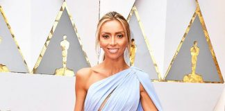 Giuliana Rancic Rocks Blue Periwinkle Gown by Georges Chakra