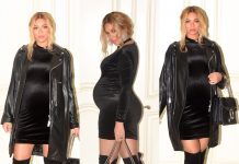 BEYONCÉ ATTENDS MR LAWSON'S BIRTHDAY IN SEXY BODYCON LITTLE BLACK DRESS