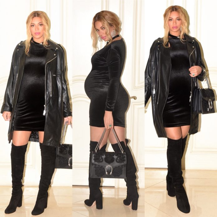 BEYONCÉ ATTENDS MR LAWSON'S BIRTHDAY IN SEXY BODYCON LITTLE BLACK DRESS