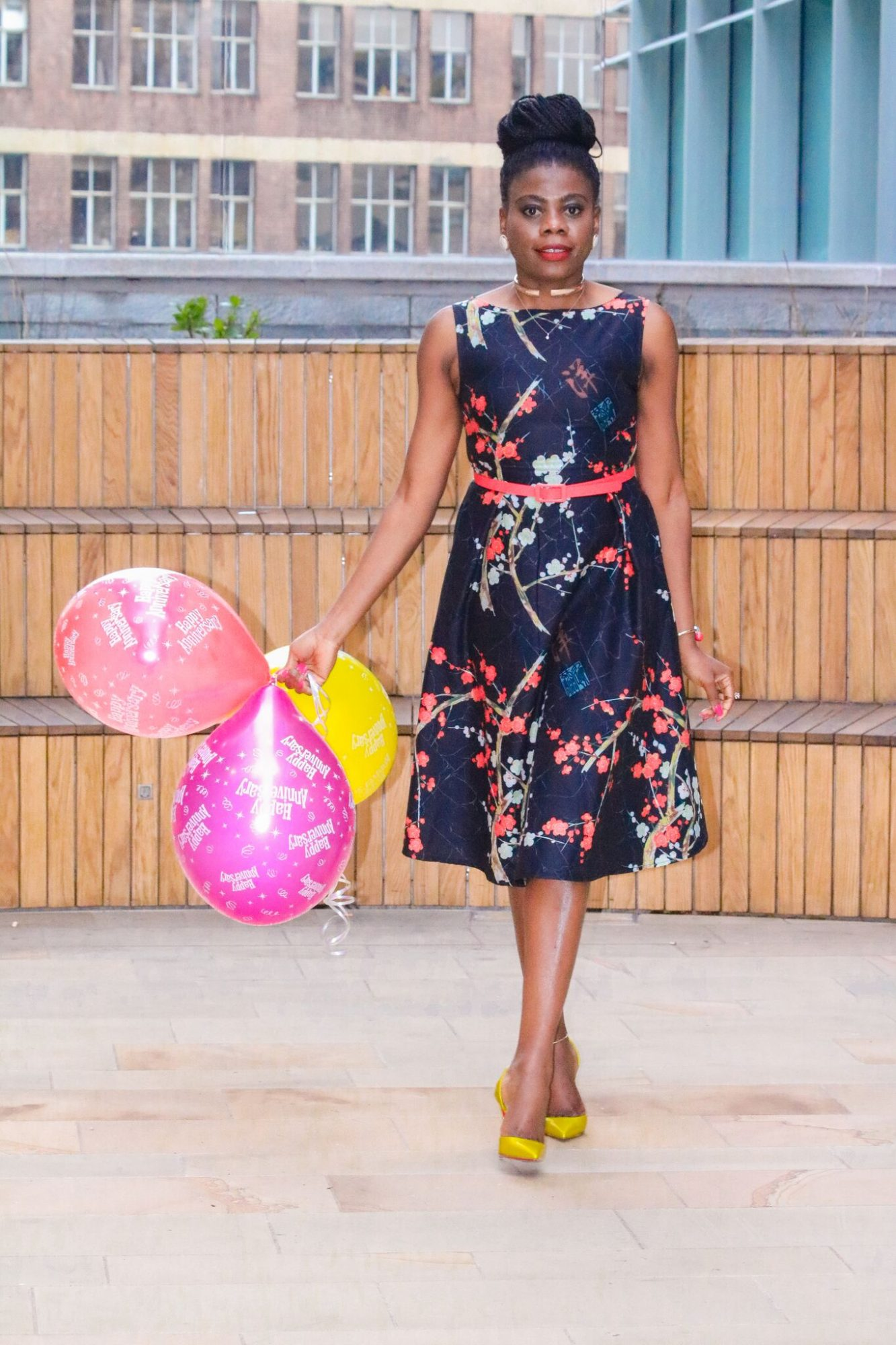 Birthday printed floral dress