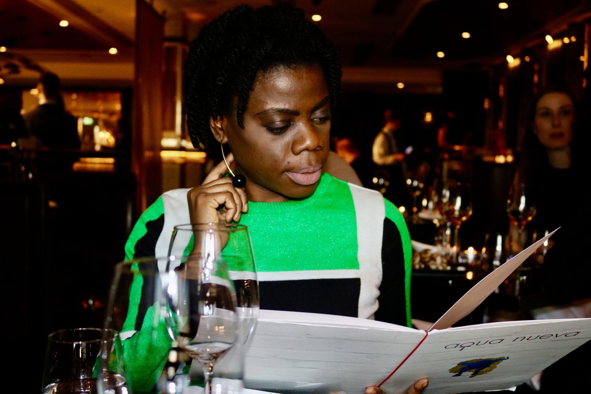 Editor at Mammypi at Aqua Nueva Restaurant
