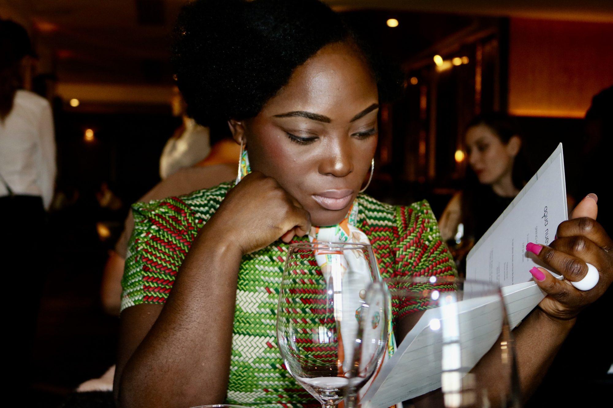 Cameroonian PR Guru Cynthia Tabe at Aqua Nueva