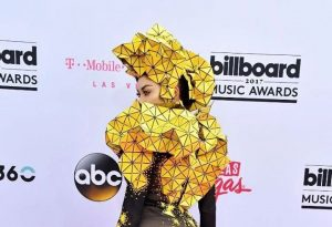 Cameroonian Skin Whitening Queen Dencia Storms MTV Billboard Music Awards 2017 In Geometric  Inspired  Outfit