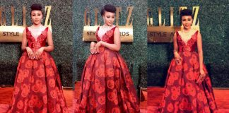 Syndy Emade's Graceful Glitz Style Awards Red Carpet Dress