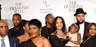 Celebrities At Rihanna's Third Annual Diamond Ball