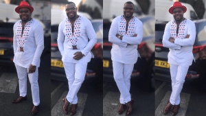 Check Out This Electric White Print African Men's Wear