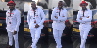 Electric White Print African Men's Wear