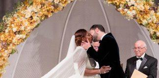 Serena William's Beautiful Alexander McQueen Wedding Dress