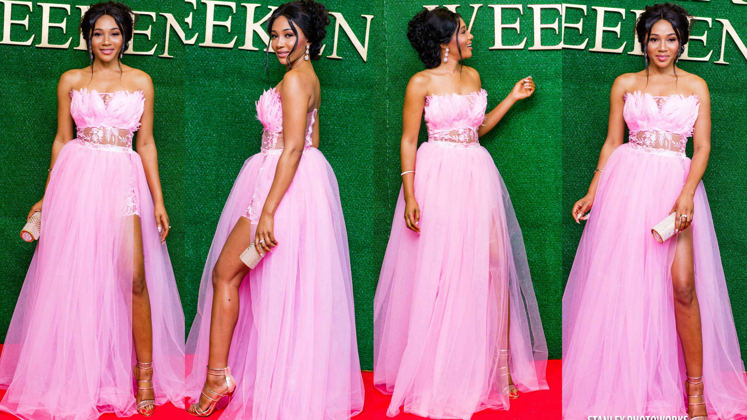 SYNDY EMADE'S MESMERISING EB KREATIONS PINK DRESS