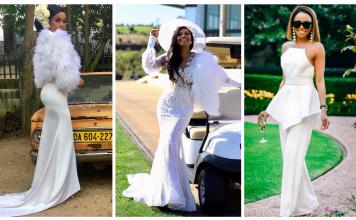 Seven Times Bonang Matheba Slays In Fun Flattering White Outfit
