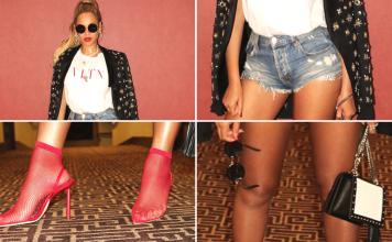 Beyonce in personalised Balmain Clutch Box