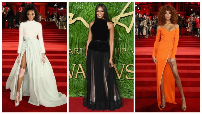 Naomi Campbell,Jourdan Dunn,Winnie Harlow Stuns At British Fashion Awards