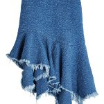 Marques' Almeida Embroidered Denim Skirt