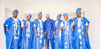 "Cameroonian Footballer Ndip Tambe Weds In Colourful ""Agbada"" Outfit"