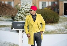 Stanlo Akisa in dashing yellow coat