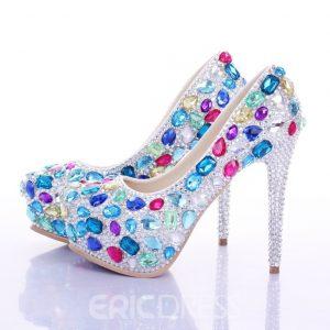 Colorful Rhinestone Wedding Shoes