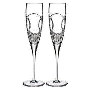 Waterford Wedding vows flute pair