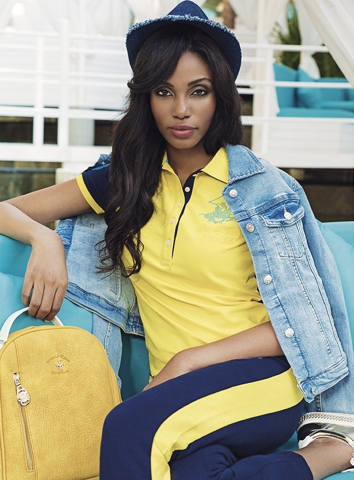 Top Cameroonian Model Valerie Ayena Fronts Beverly Hills Polo Club Campaign #ValerieAyena #CameroonianModel