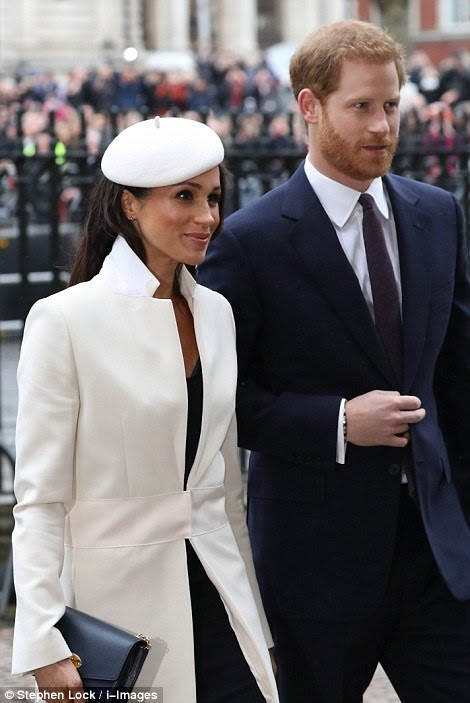 Meghan Markle in Cream Amanda Wakeley Coat Commonwealth Day #MeghanMarkle #MeghanMarkleStyle #AmandaWakeley