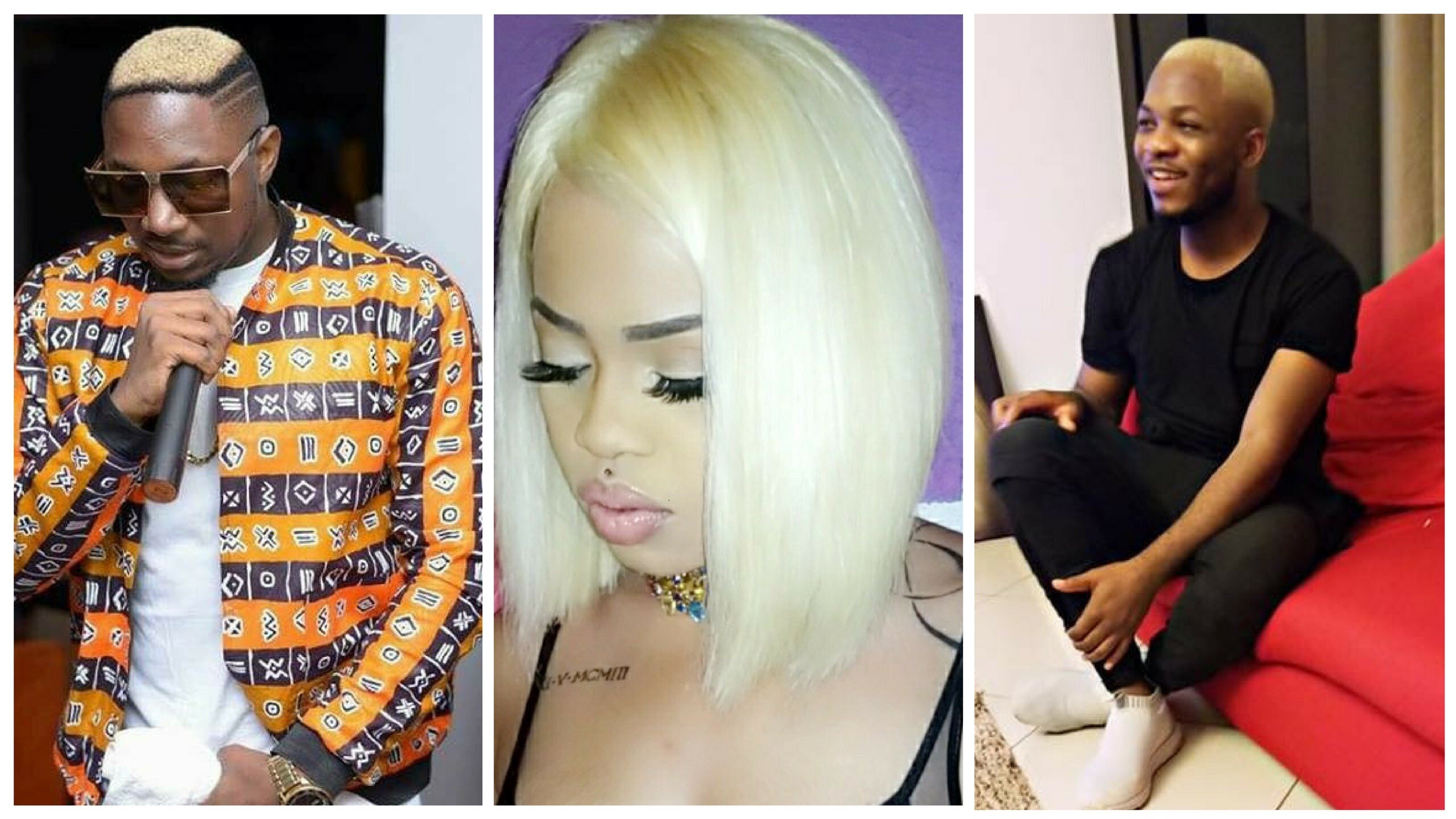 Platinum Blonde Hair: See how these Cameroonian music celebrities are rocking their white hair.