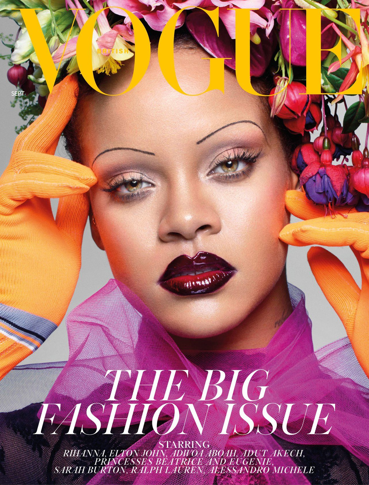 What the fashion? Fenty Beauty boss Rihanna just endorsed Thin Eyebrows on the cover of British Vogue Sept Issue