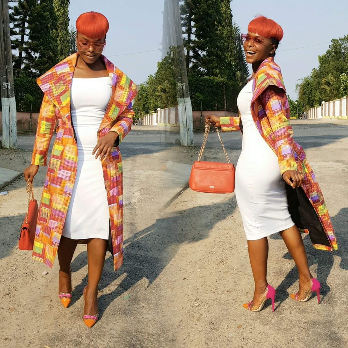Daphnie Njie slays in colourful African Print Coat by Ozi International -Mammypi FashionTV