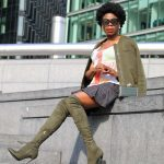 How to wear summer Knee high Boots X Prince of Wales Check