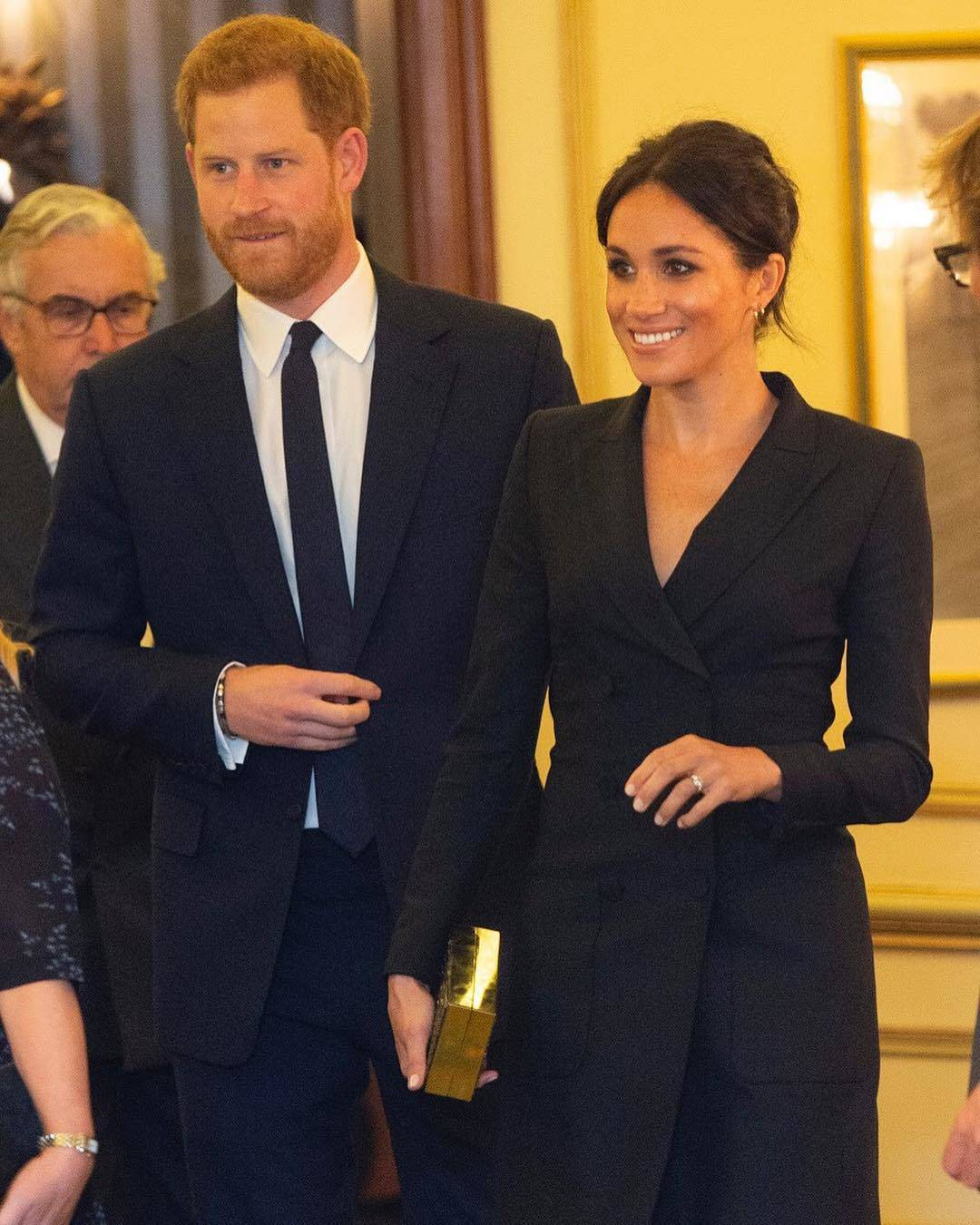 Meghan Markle Sexy Tuxedo dress