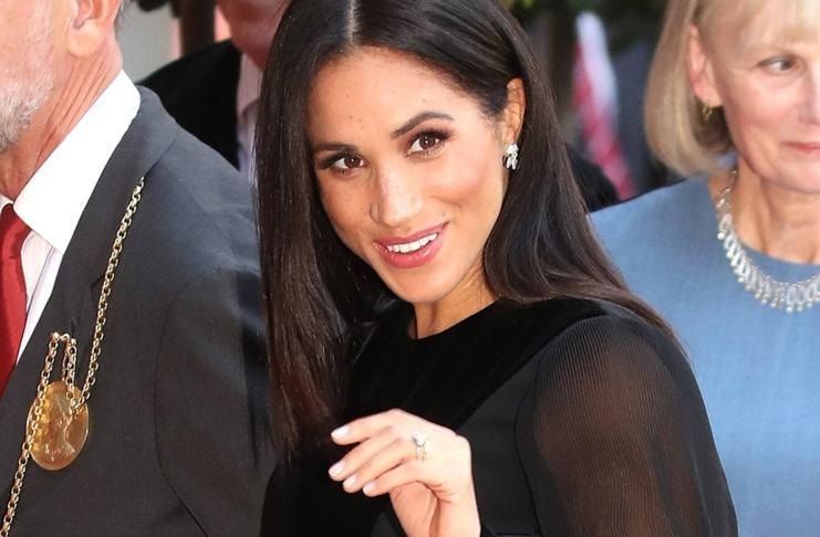 Meghan Markle's Black Statement dress