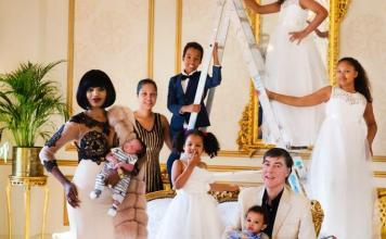 Irene Major and Sam Malin share pictures with seven children