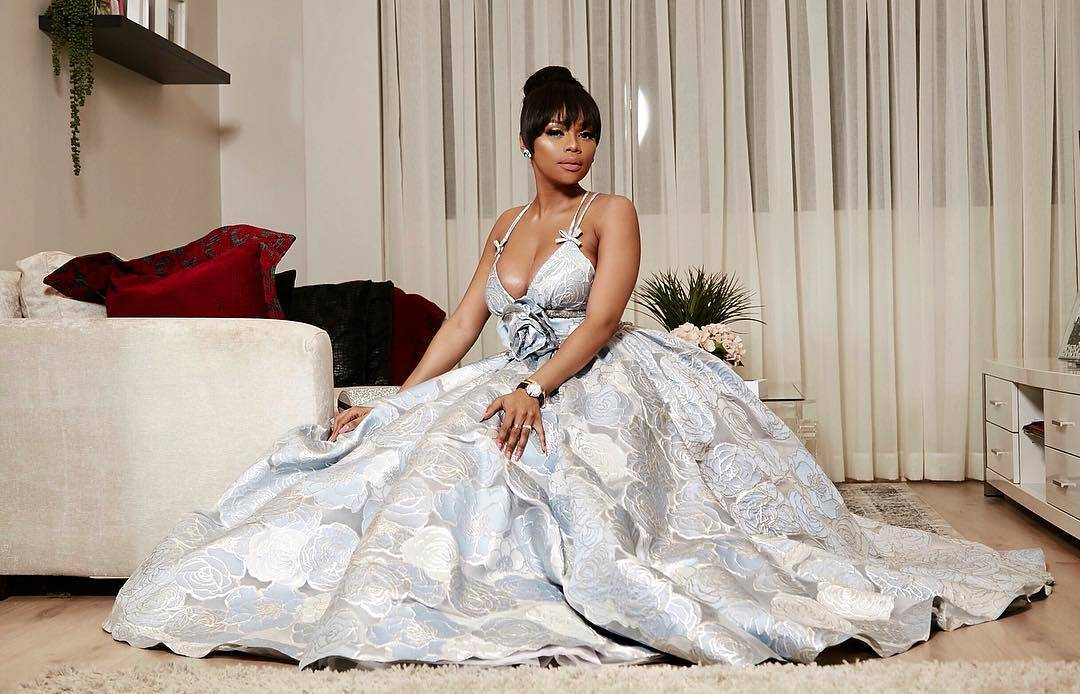Bonang Matheba in Villioti Fashion Dress