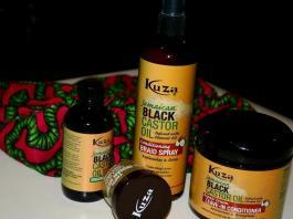 Glam Africa Beauty Box KUZA Hair Products