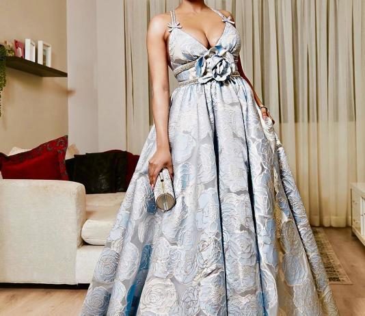 Bonang Matheba Dresses in Villioti Fashion Dress