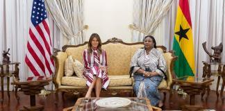 US FIRST LADY MELANIA TRUMP VISITS GHANA
