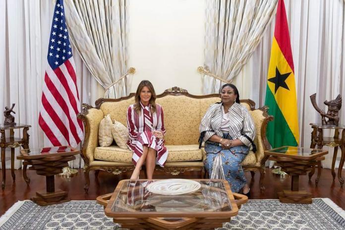 US FIRST LADY MELANIA TRUMP VISITS GHANA
