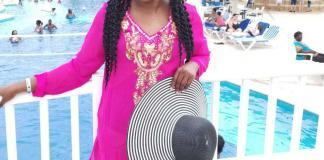 Nora Echu Ebob serves hot Pink Vacation Style Inspiration: Fuchsia pink and Mustard yellow for Breast Cancer Awareness month